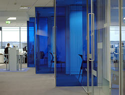 Becton Dickenson glazed partitioning to offices
